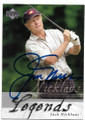 JACK NICKLAUS AUTOGRAPHED GOLF CARD #31919C