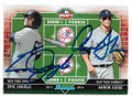AARON JUDGE & ERIC JAGIELO NEW YORK YANKEES DOUBLE AUTOGRAPHED ROOKIE BASEBALL CARD #31919F
