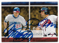 RYNE SANDBERG & DAN UGGLA CHICAGO CUBS & ATLANTA BRAVES DOUBLE AUTOGRAPHED BASEBALL CARD #32119A