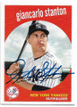 GIANCARLO STANTON NEW YORK YANKEES AUTOGRAPHED BASEBALL CARD #32119B