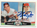 LUIS APARICIO & MIKE TROUT BALTIMORE ORIOLES & LOS ANGELES ANGELS OF ANAHEIM DOUBLE AUTOGRAPHED BASEBALL CARD #32219B