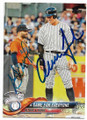 JOSE ALTUVE & AARON JUDGE HOUSTON ASTROS & NEW YORK YANKEES DOUBLE AUTOGRAPHED BASEBALL CARD #32219C