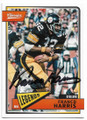 FRANCO HARRIS PITTSBURGH STEELERS AUTOGRAPHED FOOTBALL CARD #32319D