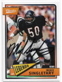 MIKE SINGLETARY CHICAGO BEARS AUTOGRAPHED FOOTBALL CARD #32519G