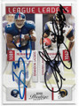 BRANDON JACOBS & STEVEN JACKSON NEW YORK GIANTS & ST LOUIS RAMS DOUBLE AUTOGRAPHED FOOTBALL CARD #32619C