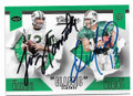 JOE NAMATH & DAN MARINO NEW YORK JETS & MIAMI DOLPHINS DOUBLE AUTOGRAPHED FOOTBALL CARD #32719D