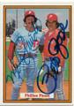 PETE ROSE & MIKE SCHMIDT PHILADELPHIA PHILLIES DOUBLE AUTOGRAPHED VINTAGE BASEBALL CARD #32819A