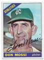 DON MOSSI KANSAS CITY ATHLETICS AUTOGRAPHED VINTAGE BASEBALL CARD #32819B
