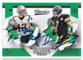 TOM BRADY & BEN ROETHLISBERGER NEW ENGLAND PATRIOTS & PITTSBURGH STEELERS DOUBLE AUTOGRAPHED FOOTBALL CARD #32919C