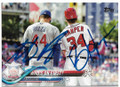 ANTHONY RIZZO & BRYCE HARPER CHICAGO CUBS & WASHINGTON NATIONALS DOUBLE AUTOGRAPHED BASEBALL CARD #32919F
