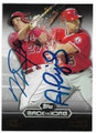 MIKE TROUT & ALBERT PUJOLS LOS ANGELES ANGELS OF ANAHEIM DOUBLE AUTOGRAPHED BASEBALL CARD #33019B