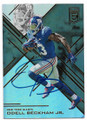 ODELL BECKHAM JR NEW YORK GIANTS AUTOGRAPHED FOOTBALL CARD #33019E