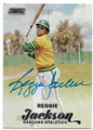 REGGIE JACKSON OAKLAND ATHLETICS AUTOGRAPHED BASEBALL CARD #33019F