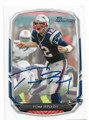 TOM BRADY NEW ENGLAND PATRIOTS AUTOGRAPHED FOOTBALL CARD #33119i