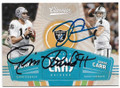 JIM PLUNKETT & DEREK CARR OAKLAND RAIDERS DOUBLE AUTOGRAPHED FOOTBALL CARD #40119B