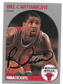 BILL CARTWRIGHT CHICAGO BULLS AUTOGRAPHED BASKETBALL CARD #40119C