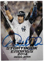 DEREK JETER NEW YORK YANKEES AUTOGRAPHED BASEBALL CARD #40119D
