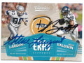 STEVE LARGENT & DOUG BALDWIN SEATTLE SEAHAWKS DOUBLE AUTOGRAPHED FOOTBALL CARD #40119H