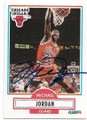 MICHAEL JORDAN CHICAGO BULLS AUTOGRAPHED VINTAGE BASKETBALL CARD #40119J