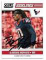 DeANDRE HOPKINS HOUSTON TEXANS AUTOGRAPHED FOOTBALL CARD #40219D