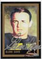 GLENN DAVIS AUTOGRAPHED HEISMAN TROPHY FOOTBALL CARD #40219F