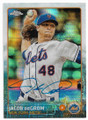 JACOB deGROM NEW YORK METS AUTOGRAPHED BASEBALL CARD #40319H