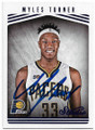 MYLES TURNER INDIANA PACERS AUTOGRAPHED BASKETBALL CARD #40519C