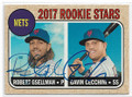 ROBERT GSELLMAN & GANIN CECCHINI NEW YORK METS DOUBLE AUTOGRAPHED BASEBALL CARD #40519J