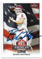 BAKER MAYFIELD OKLAHOMA SOONERS AUTOGRAPHED ROOKIE FOOTBALL CARD #40619A