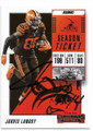 JARVIS LANDRY CLEVELAND BROWNS AUTOGRAPHED FOOTBALL CARD #40719C