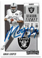 AMARI COOPER OAKLAND RAIDERS AUTOGRAPHED FOOTBALL CARD #40719F