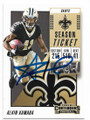 ALVIN KAMARA NEW ORLEANS SAINTS AUTOGRAPHED FOOTBALL CARD #40719J
