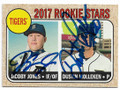 JaCOBY JONES & DUSTIN MOLLEKEN DETROIT TIGERS DOUBLE AUTOGRAPHED BASEBALL CARD #40919G