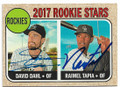 DAVID DAHL & RAIMEL TAPIA COLORADO ROCKIES DOUBLE AUTOGRAPHED BASEBALL CARD #40919J