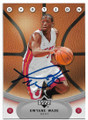 DWYANE WADE MIAMI HEAT AUTOGRAPHED BASKETBALL CARD #41019i