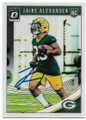 JAIRE ALEXANDER GREEN BAY PACKERS AUTOGRAPHED ROOKIE FOOTBALL CARD #41119E