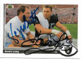 GEORGE BRETT & HOWIE LONG KANSAS CITY ROYALS & LOS ANGELES RAIDERS DOUBLE AUTOGRAPHED VINTAGE BASEBALL/FOOTBALL CARD #41219B