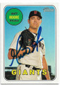 MATT MOORE SAN FRANCISCO GIANTS AUTOGRAPHED BASEBALL CARD #41219H