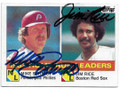 MIKE SCHMIDT & JIM RICE PHILADELPHIA PHILLIES & BOSTON RED SOX DOUBLE AUTOGRAPHED VINTAGE BASEBALL CARD #41319G