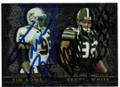 TIM BOWENS & REGGIE WHITE MIAMI DOLPHINS & GREEN BAY PACKERS DOUBLE AUTOGRAPHED FOOTBALL CARD #41319i