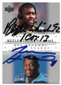 REGGIE WHITE & JEVON KEARSE CAROLINA PANTHERS & TENNESSEE TITANS DOUBLE AUTOGRAPHED FOOTBALL CARD #41519i