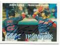 JASON KIPNIS & FRANCISCO LINDOR CLEVELAND INDIANS DOUBLE AUTOGRAPHED BASEBALL CARD #41619B