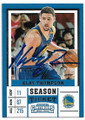 KLAY THOMPSON GOLDEN STATE WARRIORS AUTOGRAPHED BASKETBALL CARD #41619E