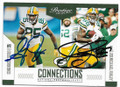 GREG JENNINGS & JERMICHAEL FINLEY GREEN BAY PACKERS DOUBLE AUTOGRAPHED FOOTBALL CARD #41719B