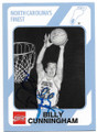 BILLY CUNNINGHAM NORTH CAROLINA TAR HEELS AUTOGRAPHED VINTAGE BASKETBALL CARD #41719E