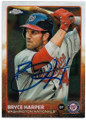 BRYCE HARPER WASHINGTON NATIONALS AUTOGRAPHED BASEBALL CARD #41719i
