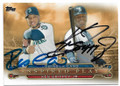 ROBINSON CANO & KEN GRIFFEY JR SEATTLE MARINERS DOUBLE AUTOGRAPHED BASEBALL CARD #41819G