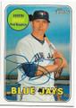 JUSTIN SMOAK TORONTO BLUE JAYS AUTOGRAPHED BASEBALL CARD #41919A