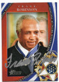 FRANK ROBINSON BASEBALL LEGEND AUTOGRAPHED MEDAL OF FREEDOM CARD #42019D