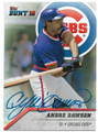 ANDRE DAWSON CHICAGO CUBS AUTOGRAPHED BASEBALL CARD #42219B